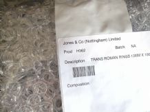 1000 Curtain Rings TRADE BULK PACK Clear Nylon Translucent Sewing ring